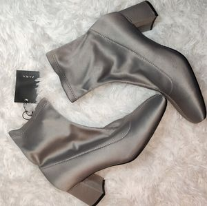 ZARA booties satin gray size 6 New with tag